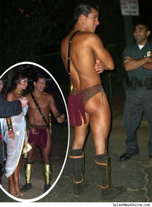 Mario Lopez Nearly Naked at Playboy Halloween Party