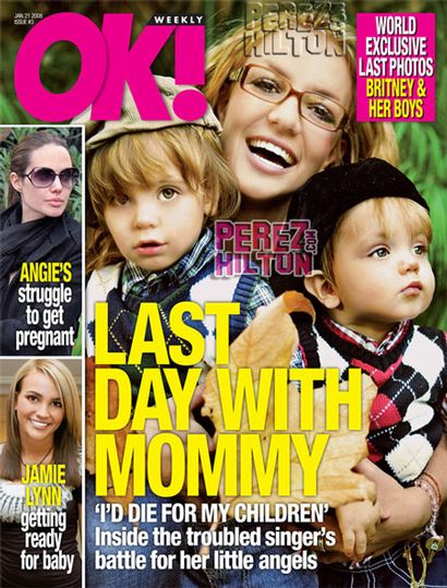 Britney Spears children OK magazine
