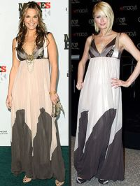 Molly Sims Paris Hilton Fashion Faceoff