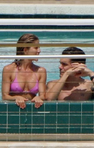 Jen and John at the pool again