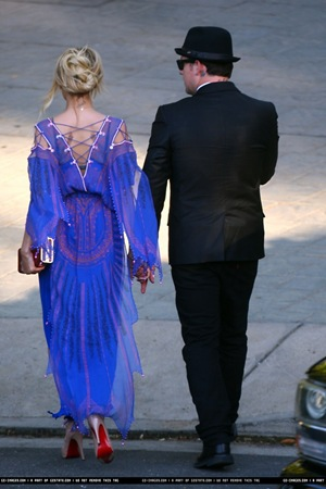 nicole richie and joel madden attend ashlee simpson wedding-2