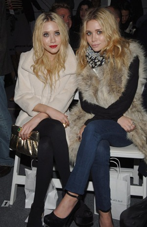 mary kate and ashley olsen fur twins