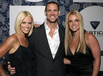 Britney Spears, Jenny McCarthy and Jim Carrey