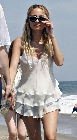 Nicole Richie At Malibu Beach Party