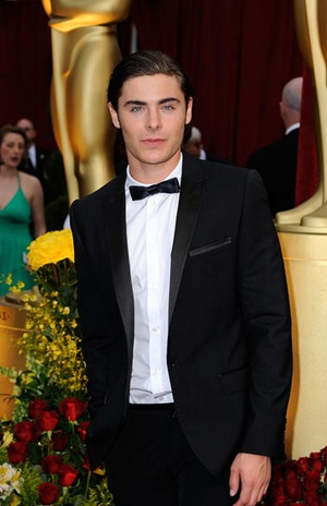 Zac Efron looking hot in a tux