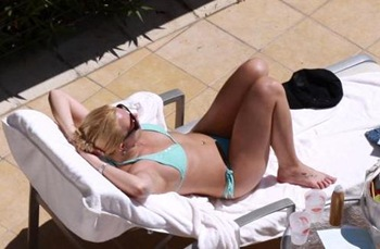Britney Spears Sun Bathing 2