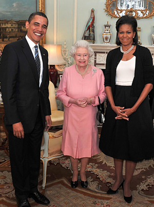 Obamas Meet Queen Elizabeth
